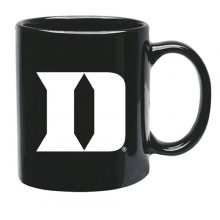 Duke Blue Devils 15 oz Black Ceramic Coffee Cup
