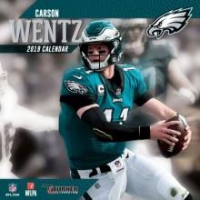 Philadelphia Eagles 12 x 12  Inch Carson Wentz  Wall Calendar 2019