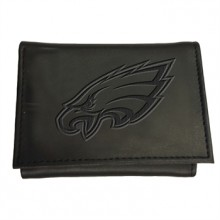 Philadelphia Eagles Black Leather Tri-Fold Wallet