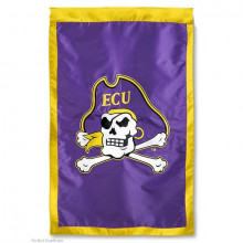 "East Carolina Pirates Double Sided 28"" X 44"" Applique Flag"