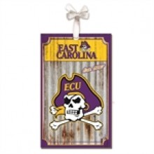 East Carolina Pirates Corrugated Metal Ornament
