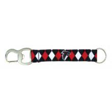 Atlanta Falcons Argyle Carabiner Lanyard Key Chain