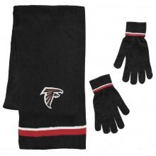 Atlanta Falcons Chenille Scarf & Glove Set