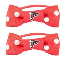 Atlanta Falcons Bow Pigtail Holders