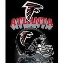 """Atlanta Falcons  50"""" x 60"""" Gridiron Fleece Throw Blanket"""