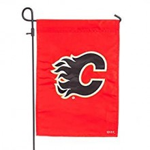 "Calgary Flames 2-Sided 12.5""x 18"" Applique Garden Flag"