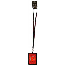 Calgary Flames Beaded Lanyard I.D. Wallet