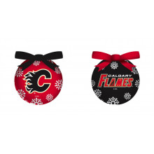 Calgary Flames LED Ball Ornaments Set of 6