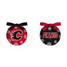 Calgary Flames LED Ball Ornaments Set of 2