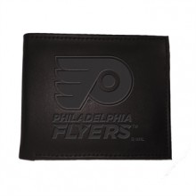 Philadelphia Flyers  Black Leather Bi-Fold Wallet