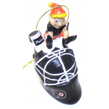 Philadelphia Flyers  Painting Elf Ornament