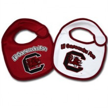 South Carolina Gamecocks 2 Pack Game Day Bib Set