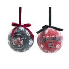South Carolina Gamecocks  LED Ball Ornaments Set of 2