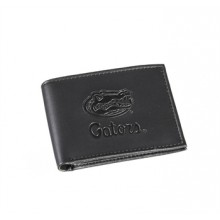 Florida Gators Black Leather Bi-Fold Wallet
