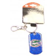 Florida Gators Glitter Dog Tag Keychain