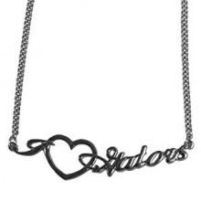 Florida Gators Heart Script Necklace