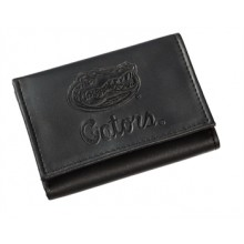 Florida Gators Black Leather Tri-Fold Wallet