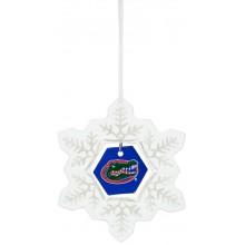 Florida Gators Glass Snowflake Ornament