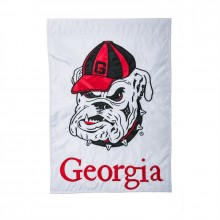 "Georgia Bulldogs  12.5"" x 18"" Two Sided Applique Garden Flag"