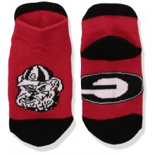 Georgia Bulldogs Baby Red Ankle Tab Socks