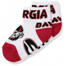 Georgia Bulldogs Baby Team Colored Quarter Socks