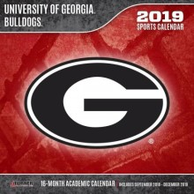 Georgia Bulldogs 12 x 12 Wall Calendar (2019)