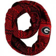 Georgia Bulldogs Chunky Duo Knit Infinity Scarf