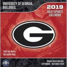Georgia Bulldogs 2019 Boxed Desk Calendar
