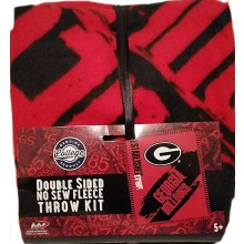 Georgia Bulldogs Double Sided No Sew Fleece Blanket Kit