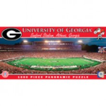 Georgia Bulldogs 1000 pc. Panoramic Puzzle