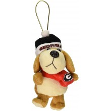 Georgia Bulldogs 4 inch Plush Dog Ornament