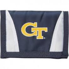 Georgia Tech Yellow Jackets Tri-Fold Nylon Chamber Wallet