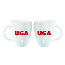 Georgia Bulldogs 18 oz White Luster Cup