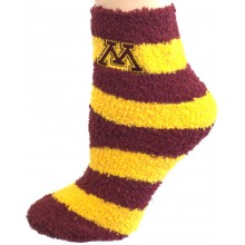 NCAA Minnesota Golden Gophers Striped Fuzzy Lounge Socks