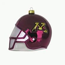 Minnesota Golden Gophers Glass Helmet Ornament