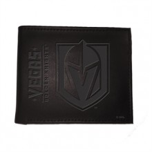Vegas Golden Knights  Black Leather Bi-Fold Wallet