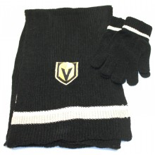Vegas Golden Knights Chenille Knit Scarf and Glove Set
