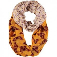 NCAA Minnesota Golden Gophers Floral Infinity Scarf