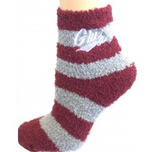 NCAA Montana Grizzlies Striped Fuzzy Lounge Socks