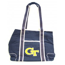 Georgia Tech Yellow Jackets Canvas Hampton Tote Bag