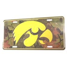 Iowa Hawkeyes Aluminum Camo License Plate