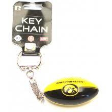 Iowa Hawkeyes Hanging Football Keychain