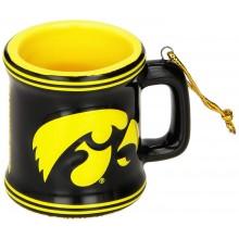 Iowa Hawkeyes Ceramic Mini Mug Ornament