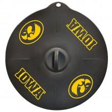 """Iowa Hawkeyes 9"""" Silicone Lid"""