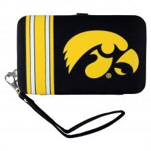 Iowa Hawkeyes Distressed Wallet Wristlet
