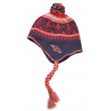 Atlanta Hawks Mongolian Knit Pom Tassel Beanie