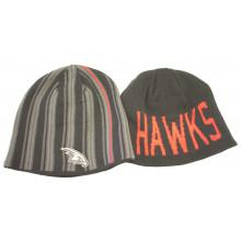 Atlanta Hawks Black Striped Reversible Beanie