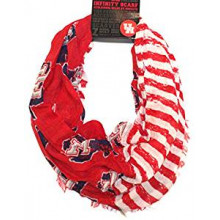 Houston Cougars Striped 2 Tone Infinity Scarf