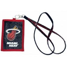 Miami Heat Beaded Lanyard I.D. Wallet