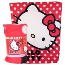 "Officially Licensed Hello Kitty Polka Dots (45"" X 60"") Character Fleece Throw"